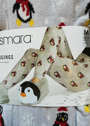 Теплые лосины р.м 40-42 леггинсы esmara германия рождество новый год