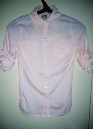 Супер рубашка блуза converse из хлопка мягкая и стильная пастельная розовая