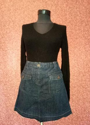 Оригинальная юбка с необработанными краями