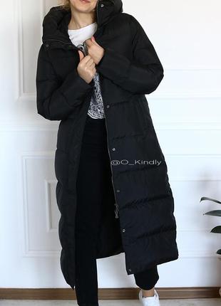 Классическое длинное пуховое пальто, пуховик, в наличии
