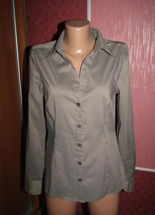 Рубашка р-р м-38 стрейч h&m