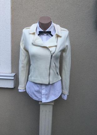 Трикотажная куртка-кофта-косуха,жакет,пиджак укорочённый,маленький размер