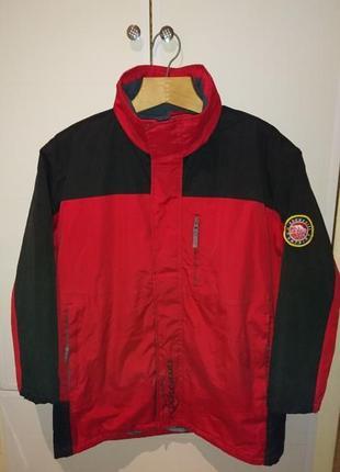 Мужская зимняя курточка красно черной расцветки weekday atlas