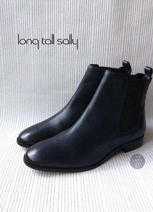 3407 ботінки long tall sally uk10/43- 42 шкіра нові
