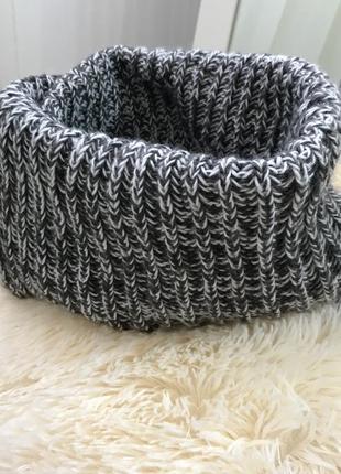 Вязаный шарф. хомут.