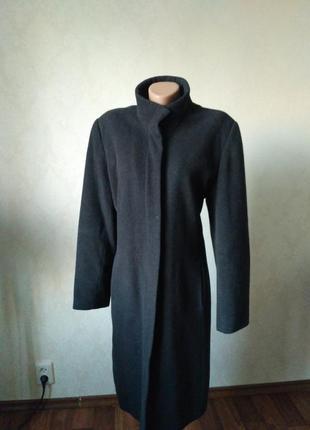 Пальто женское классическое прямое ровное чёрное