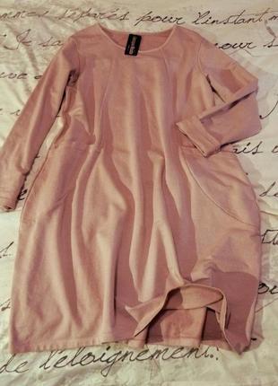 Новое теплое  хлопковое платье. италия.  супер качество !