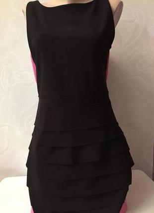 Темно коричневое платье