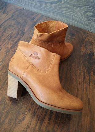 Shabbies amsterdam ботинки на каблуке 100% натуральная кожа ( ботильоны сапоги )