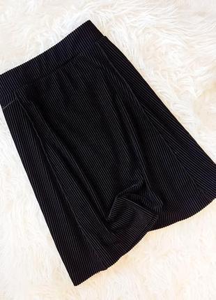 Бархатная юбка в рубчик zara