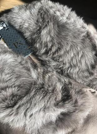 Кашемировое пальто. теплое. мех песец.