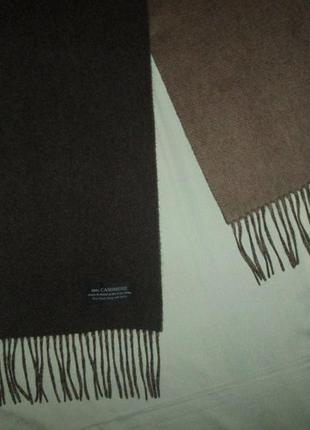 Кашемировый шарф 100% cashmere чистый кашемир