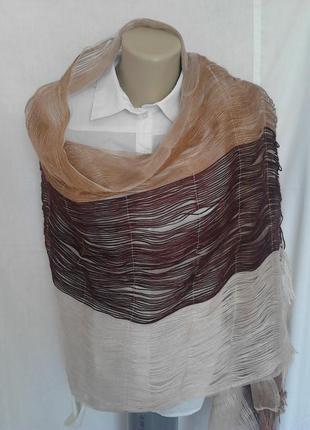 Роскошный палантин,шарф,оригинальный дизайн,акрил/шелк