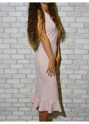 Новое нежно-персиковое платье prettylittlething