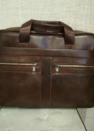 Портфель из натуральной кожи кожаная мужская сумка для ноутбука