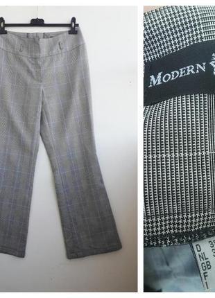 Базовые повседневные штаны в клетку брюки в клетку