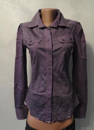 Рубашка, блузка фиолетовая в полоску gaudi