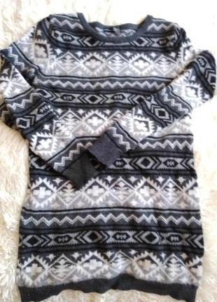 Atmosphere кофта свитер туника шерстяная,размер 44