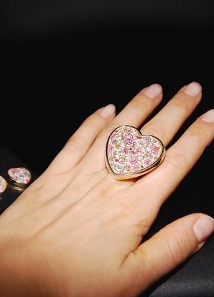 Набор кольцо и серьги accessorize принт цветы