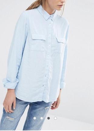 Рубашка лён классика