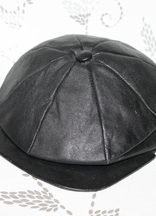 Кожаная кепка восьмиклинка 57 размер