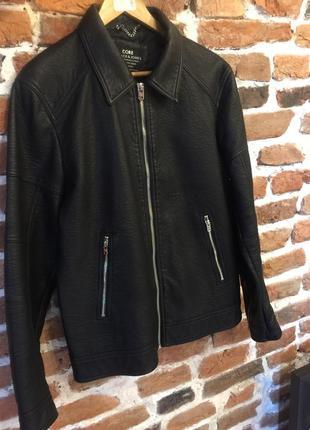 Куртка чоловіча з шкірзамінника