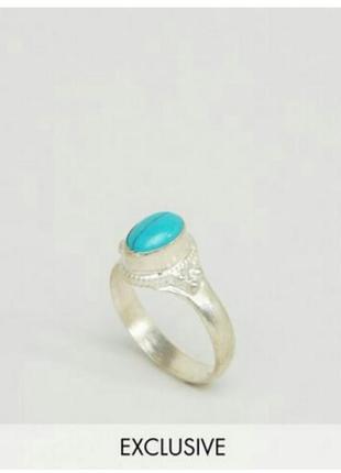 Эксклюзивное кольцо с бирюзой от asos