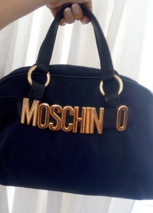 Аутентичная moschino redwall сумка нейлон кожа номерная италия винтаж 90-е