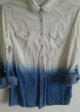 Рубашка джинсовая . джинсова рубашка