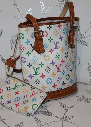 Винтажная сумка louis vuitton с кошельком