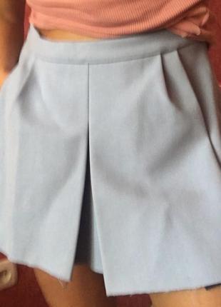 Продам нежно - голубую юбку zara
