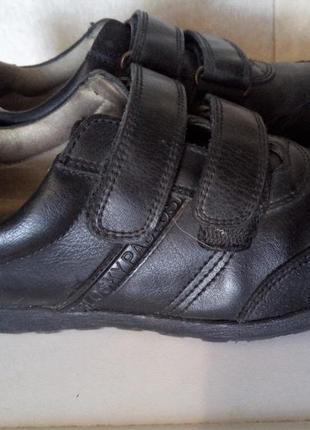 Деми кожаные школьные туфли pablosky, р. 33, ботинки на липучках в школу, 21 см, черные