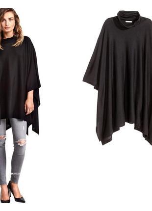 H&m.  пончо/свитер черный