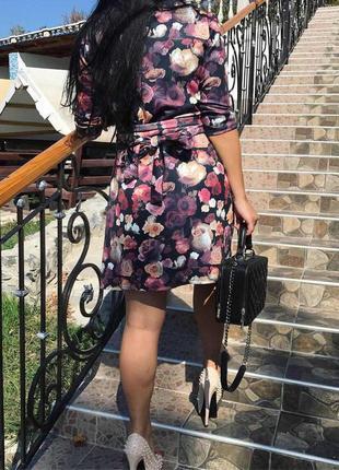 Очень красивое платье-халат, размер m-l1 фото