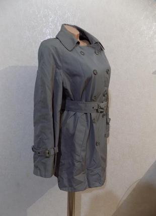 Куртка парка с поясом серая утепленная размер 48 фирменная c&a