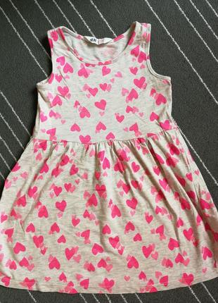 Платье на 2-4 года h&m