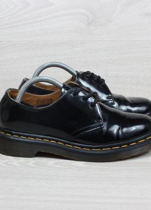 Кожаные лакированные туфли dr.martens 1461 оригинал, размер 37 - 37.5