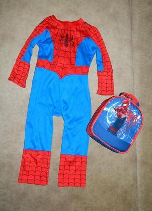 Костюм карнавальный супергерой человек-паук spider-man на мальчика 3-4 года