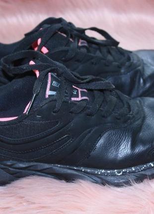 Кроссовки черные с розовым demix tiguan 38р (к000)