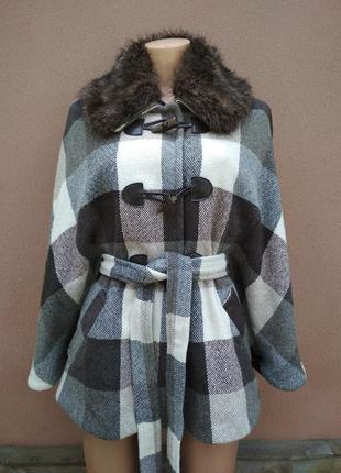 Мега классное демисезонное ,осень - весна пальто 40% шерсть !