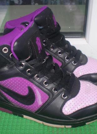 Высокие кроссовки скейтера ботинки nike4 air р. 36.5, стелька 23 см