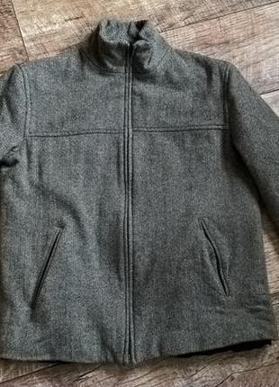 Стильная брендовая демисезонная куртка-полупальто от valentino/серая/s