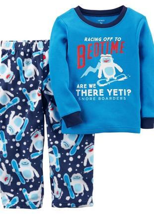 Пижама хлопок флис carters