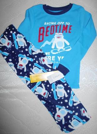 Пижама хлопок+флис carters 4т/98-105 см
