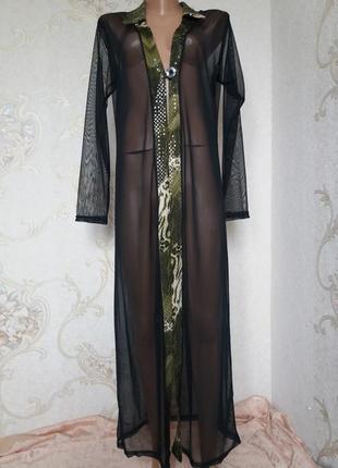 Платье/рубашка-сетка  от рarisian