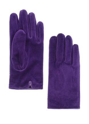 Женские перчатки осень-зима фиолетового цвета размер 6,5-7-7,5-8