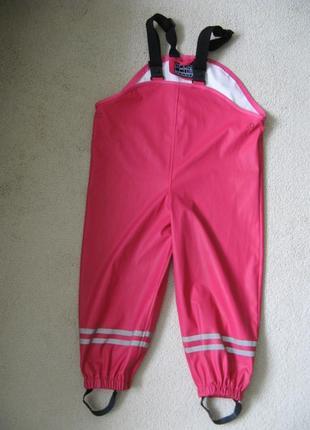 Непромокаемые дождевые штаны для луж полукомбинезон норвегия 86-92р. большемерят.
