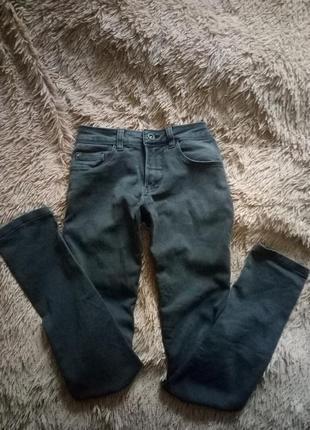 Серые скинни, высокая посадка, талия, джинсы