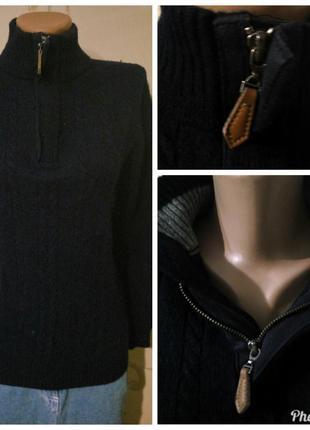 Новогодняя распродажа ! 80% шерсть . классный интересный свитер гольф на замочке