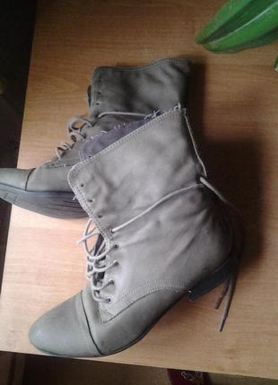 Кожаные ботинки весна-осень tamaris
